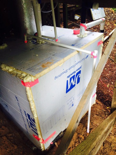 Chris Lindstrom's Styrofoam insulated digester in California