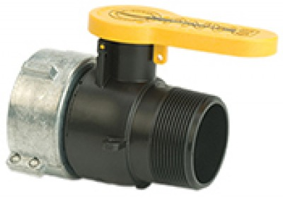 IBC valve with male threads, 2 inch