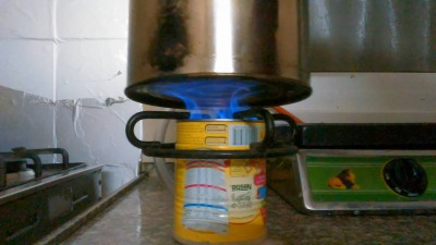 Nido can biogas stove in Farkha, May 2016